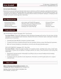 Personal Banker Resume Beautiful Personal Investment Banking Resume