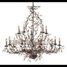 elk lighting 8056 10 5 15 light chandelier in deep rust and crystal droplets