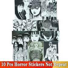 10 Chiếc Kinh Dị Truyện Tranh Dán Junji Ito Fujiang Tomie Đen Trắng Anime  Nhật Bản Cho Ván Trượt Tuyết Laptop Hành Lý Xe Tủ Lạnh miếng Dán Stickers