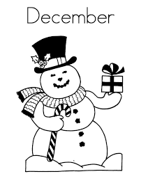 Small Picture December Winter Themed Coloring Pages Winter Coloring pages of