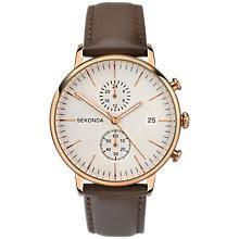 leather men s watches john lewis buy sekonda 1381 27 men s chronograph date leather strap watch brown cream online at johnlewis