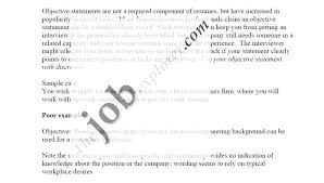 Objective Statement In A Resume Extraordinary Effective Resume Objective Statements Administrativelawjudge