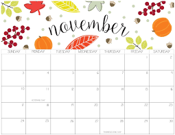 November November Calendar Printable November 2019 Calendar Pdf Word Set Your Plan