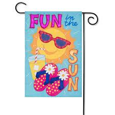 fun in the sun garden flag