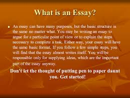 basic guide to writing an essay presentation english language  what is an essay