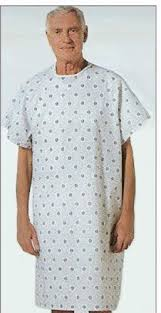 Hospital Gown Pattern Simple Hospital Gown Health Beauty EBay