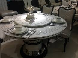 round marble dining table with lazy susan furniture