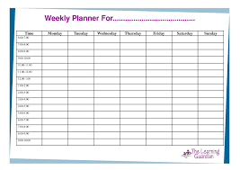 Free Printable Weekly Calendar Templates Planner For Time Incredible