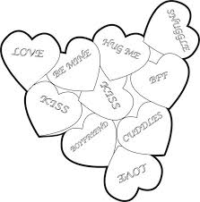 Small Picture Free Printable Valentine Heart Candies Coloring Page for Kids