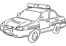 Voiture Police Transport Coloriages Imprimer Dessins Et Coloriage