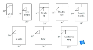 Different Bed Sizes Chart Full Bed Size In Feet Wanamakerbuilding Com