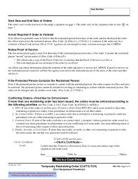 Ch-110 Temporary Restraining Order Free Download