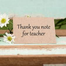 Thank You Note To Teacher From Parent Thank You Letter To