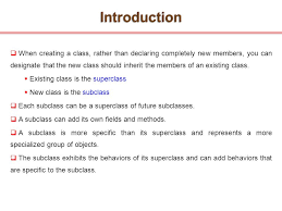 topics inheritance introduction ppt video online  3 introduction
