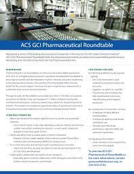 pharmaceutical roundtable fact sheet