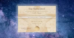 register a star and get this golden deed