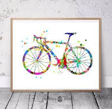 cyclist gift bicycle print cyclist