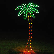 holiday lighting specialists 8 83 ft palm tree outdoor decoration with led multicolor lights