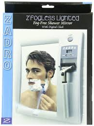Amazon.com : Zadro LED Lighted Fogless Mirror with LCD Clock : Shower  Mirrors : Beauty