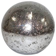 Decorative Sphere Balls Adorable Metallic Silver Mercury Glass Sphere Balls Set Of 32 Silver