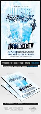 Winter Flyer Template Winter Madness Drinks Party Flyer Template PSD By REMAKNED 24
