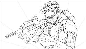 Small Picture master chief coloring pages
