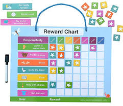 Reward Chart For Toddlers And Reward Chart For Kids Of All Ages Magnetic Back With Thickness Great For Positive Parenting And Conscious Parenting
