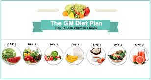 Gm Diet Plan General Motors 7 Day Diet Chart Menu Review