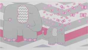 elephant border wall decals pink and grey chevron border with pink hearts and erflies