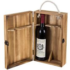 Wooden wine case Display Amazoncom Mygift Dark Torched Wood Double Bottle Wine Case Top Handle Hinged Lid Carrier Brown Home Kitchen Amazoncom Amazoncom Mygift Dark Torched Wood Double Bottle Wine Case Top