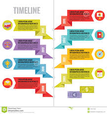 Creative Timelines For Projects Infographic Vector Concept In Flat Design Style Timeline Template