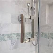 square back to back frameless shower door handle