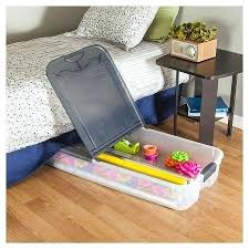 Sterilite Under Bed Storage Fascinating Target Underbed Storage Qt Ultra Clear Under Bed Box With Gray Lid
