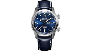 bremont u2bl automatic 45mm stainless steel and leather watch