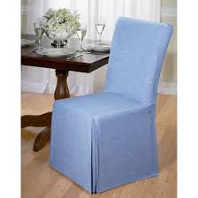 chambray cotton dining chair slipcover on orders over 45 overstock 9543510
