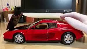Part 7 1 18 Hotwheels Ferrari Testarossa Review Youtube