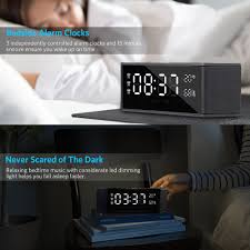 tsumbay alarm clock radio up to 10 hours with bluetooth speaker and digital fm