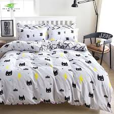 new cartoon 3 4 pieces bedding sets cute batman eggs cow printed duvet cover set pillow