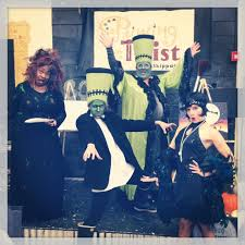 the painting with a twist skippack players ready for our annual twisted fright night