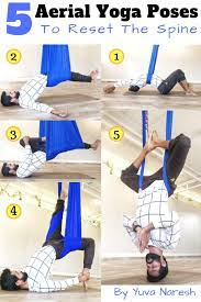 5 aerial yoga poses to reset your spine