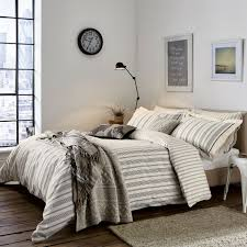 charcoal striped duvet covers single