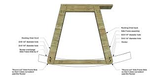 rocking chair cut the pieces for the rockers draw out the shape as shown and cut out with your jigsaw make sure you draw a gentle curve