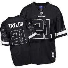 Throwback White Taylor 21 Sean Redskins Washington Jersey