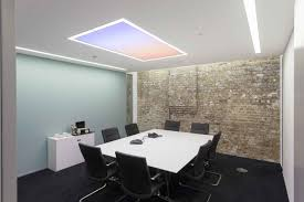 workspace lighting. Diffuse Lines Of Light Within Ceiling Troughs Provide An Ambient Backdrop, While Recessed Spotlights Punctuate The Space. Workspace Lighting W