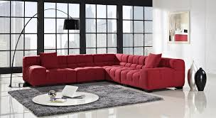 choose stylish furniture small. Choose Modern Red Sectional Sofas And Black Arc Lamp For Stylish Living Room With Round Table Furniture Small R