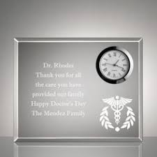 personalized cal keepsake clock plaque doctors daygifts