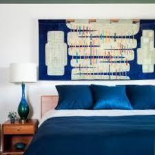 modern blue master bedroom. Antique Tabriz Rug Grounds Bold Midcentury Modern Master Bedroom Blue A