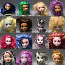 hot soft plastic practice makeup training doll head for monster high doll bjd doll s practicing