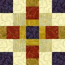 18 best Churn Dash Quilts images on Pinterest   Churn dash quilt ... & Offset Squares Quilt Block Pattern - Janet Wickell Adamdwight.com