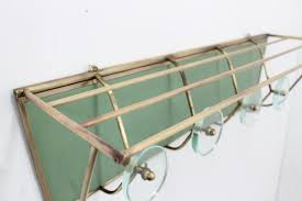 Brass Wall Coat Rack MidCentury Italian Brass And Glass Wall Coat Rack 100s For Sale 99
